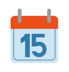 calendar logo cartoon vector image