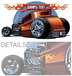 Cartoon hotrod vector