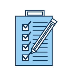 Checklist order with pencil delivery service vector