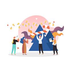 christmas celebration concept for banner vector image