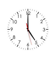 clock dial isolated on white background vector image