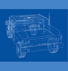 combat car rendering of 3d vector image