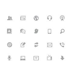 communications icon set 32 pixels icons white vector image