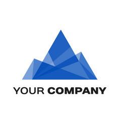 Company logo ice mountain vector