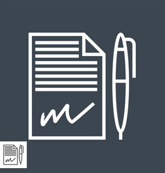 contract line icon vector image