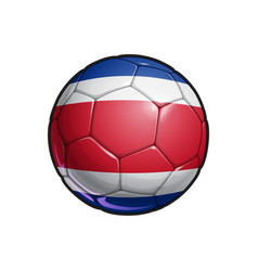 Costa rican flag football - soccer ball vector