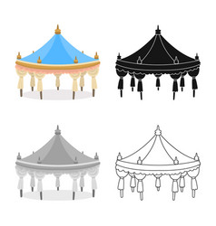 Design tent and simple icon collection vector