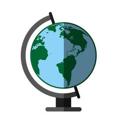 earth globe icon image vector image vector image