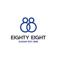 Eighty eight number digit modern abstract logo vector
