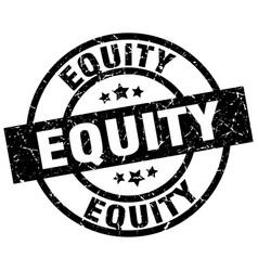 Equity round grunge black stamp vector