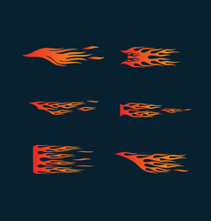 Fire flames in tribal style for tattoo vehicle vector