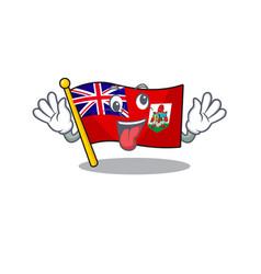 Flag bermuda cartoon on pole bring gift vector