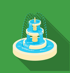 fountain icon in flat style isolated on white vector image