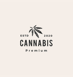 geometric cannabis hipster vintage logo icon vector image