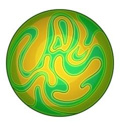 Green planet icon cartoon style vector
