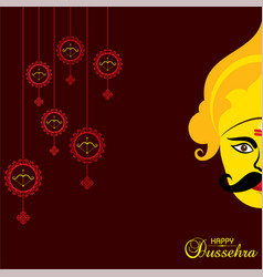 Greeting for happy or shubh dussehra festival vector