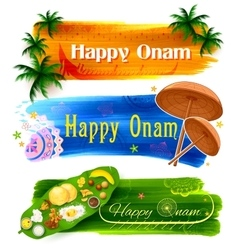 Happy Onam banner vector