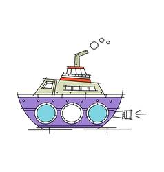 Icon ship vector