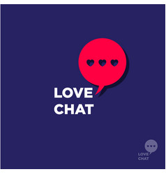 logo love chat hearts dating website vector image