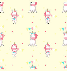 Magic unicorn seamless pattern vector
