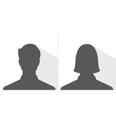 male and female avatar profile picture silhouette vector image