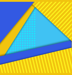 material design background blueyellow colors vector image