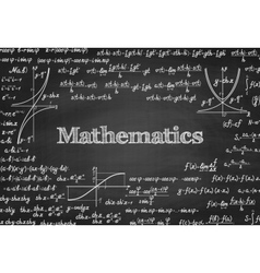 Mathematical seamless pattern on blackboard vector image