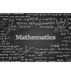 Mathematical seamless pattern on blackboard vector