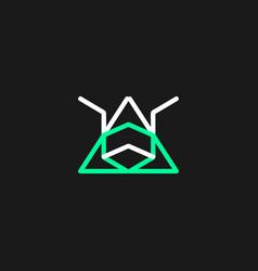 Minimalist logo abstract wild animal eps 10 vector