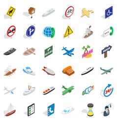 Motorway icons set isometric style vector