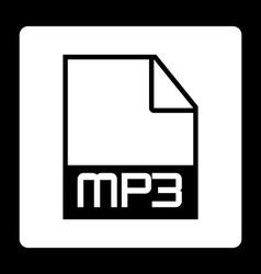 mp3 file vector image