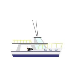 nautical motor yacht isolated on white background vector image