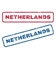 Netherlands Rubber Stamps vector