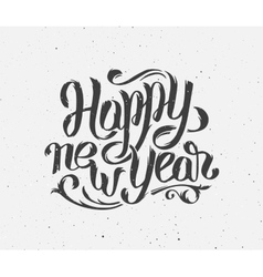 New Year 2016 vintage greeting card vector image