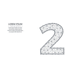 Number 2 low poly design mathematics abstract vector
