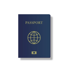 passport document on a white background vector image