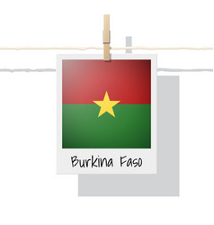 photo of burkina faso flag vector image