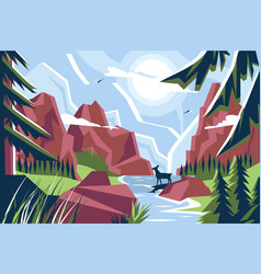 picturesque mountain landscape vector image