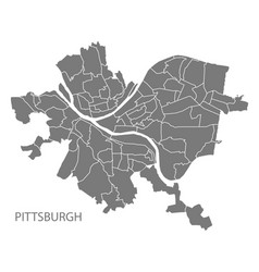 Pittsburgh pennsylvania city map with vector