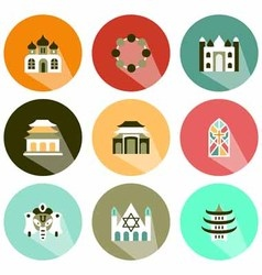 Place of worship icon shadow vector