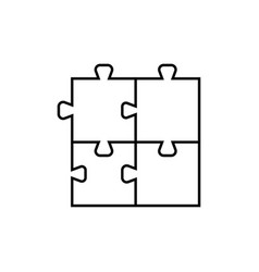 Puzzle pieces icon for business concepts vector