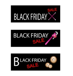 Repair Tools Kits on Black Friday Banners vector image