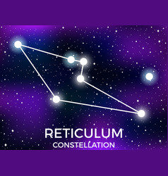 reticulum constellation starry night sky zodiac vector image