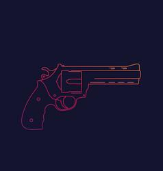 Revolver gun linear vector