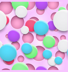 Seamless pattern holes and circles with shadows vector