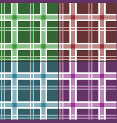 seamless tartan pattern set vector image
