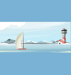 seascape lighthouse vector image