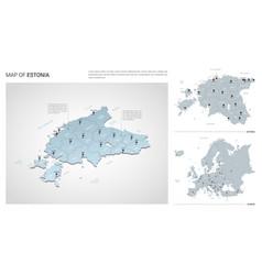set estonia country isometric 3d map estonia vector image