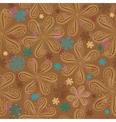 Summer flowers Floral seamless pattern vector