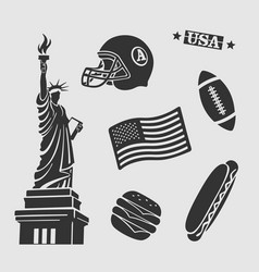 symbols set usa vector image